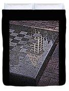 Occidental Park Checkerboard Duvet Cover