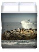 Ocean Angel II Splashed And Birds Duvet Cover