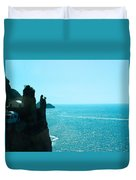 Ocean At Amalfi Duvet Cover