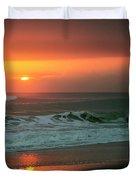 Ocean Beach Sunrise Duvet Cover
