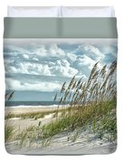 Ocean Breeze At Fort Fisher - Number One Duvet Cover