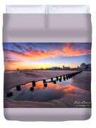 Ocean City Afterglow Duvet Cover