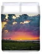 Ocean City Cloudy Sunrise Duvet Cover