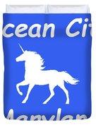 Ocean City Md Duvet Cover