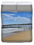 Ocean City Pier Duvet Cover