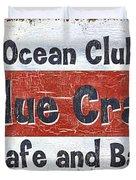 Ocean Club Cafe Duvet Cover