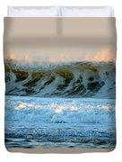Ocean Energy At Sunrise Duvet Cover