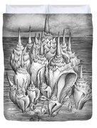 Ocean Fantasy. Huge Shells Duvet Cover