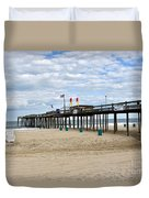 Ocean Fishing Pier Duvet Cover