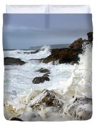 Ocean Foam Duvet Cover by Carlos Caetano