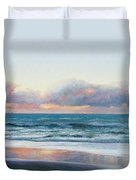 Ocean Painting - Days End Duvet Cover