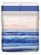 Ocean Painting 'dusk' By Jan Matson Duvet Cover