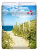 Ocean Path In Cornwall Duvet Cover