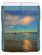 Ocean Sun Path At Boothbay Harbor Duvet Cover