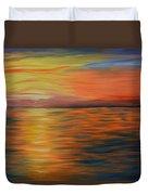Ocean Sunrise- Oil Painting- Abstract Art Duvet Cover