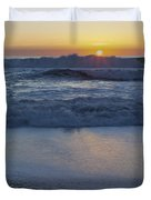 Ocean Wave Kisses The Sun Duvet Cover