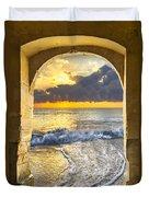 Ocean View Duvet Cover by Debra and Dave Vanderlaan