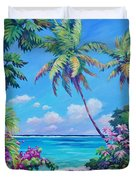 Ocean View With Breadfruit Tree Duvet Cover