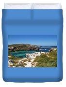 Ocean Water And Rocks Duvet Cover