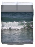 Ocean Wave On The Pacific In Huntington Beach Duvet Cover