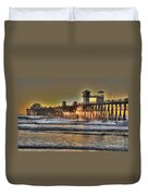 Oceanside Pier Hdr  Duvet Cover