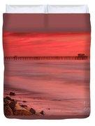 Oceanside Pier Sunset 4 Duvet Cover