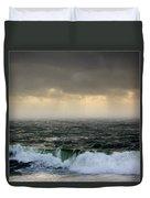 Ochre Sky's And Angry Seas 2 Duvet Cover
