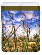 Ocotillos In Bloom Duvet Cover