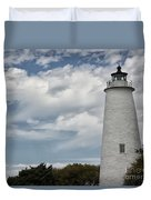 Ocracoke Island Lighthouse Duvet Cover