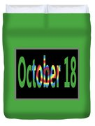 October 18 Duvet Cover