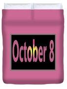 October 8 Duvet Cover