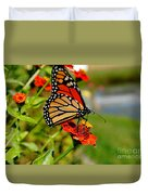 October Butterfly Duvet Cover