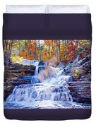 October Falls Duvet Cover