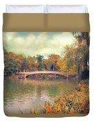 October In Central Park Duvet Cover