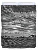 October Patterns Bw Duvet Cover