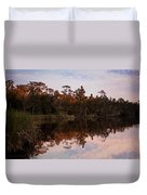 October Reflections On The River Duvet Cover