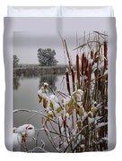 October Snow Duvet Cover