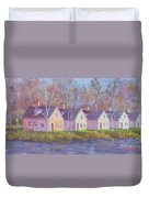 October's Light On Peanut Row Duvet Cover