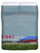 Odd Couple Delta Airlines Southwest Airlines Art Duvet Cover