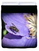 Odd Fly On Clematis Duvet Cover