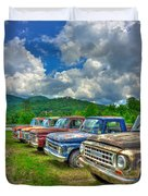 Odd Man Out Fords And Friend  Duvet Cover