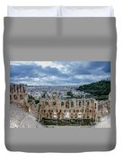 Odeon Of Herodes Atticus - Athens Greece Duvet Cover
