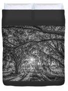 Odessa Sunrise -black And White Duvet Cover