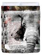 Of Elephants And Men Duvet Cover