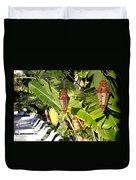 Of Lanterns And Lawn Chairs Duvet Cover