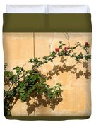 Of Light And Shadow - Bougainvillea On A Timeworn Plaster Wall Duvet Cover