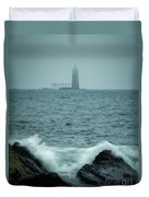 Off Cape Elizabeth Maine Duvet Cover