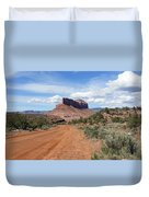 Off Road On The Red Rock Duvet Cover
