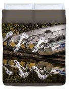 Off Season Outboards Duvet Cover