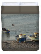 Off To Sea Duvet Cover